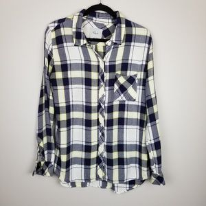 Rails Hunter plaid blouse button down shirt